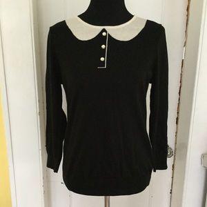 CeCe black sweater size medium
